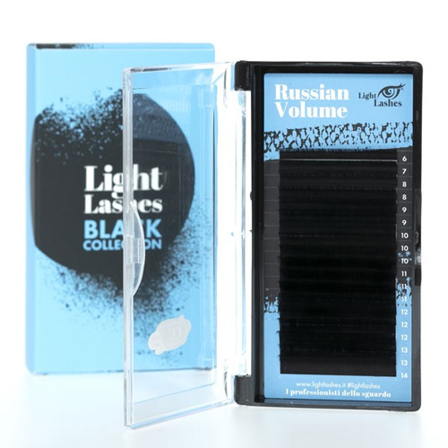 """Zoom New Black collection """"RUSSIAN VOLUME"""" B-curl 18 strisce"""